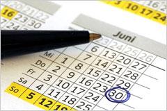 ペンで印が付けられたカレンダーの写真